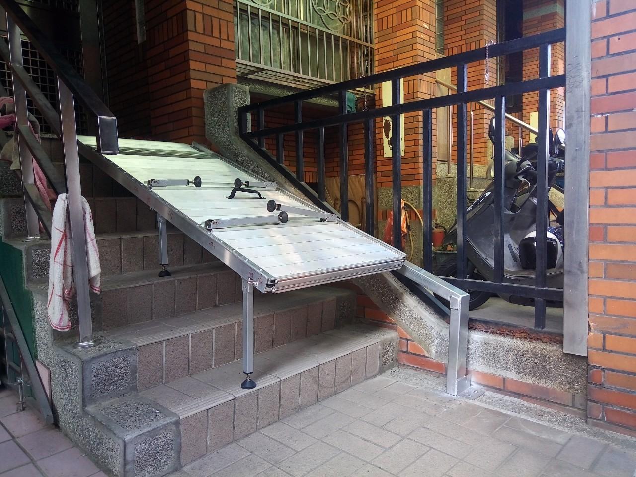 壁掛式斜坡板翻折下來